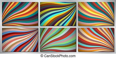 Retro, vintage vector background - stripes