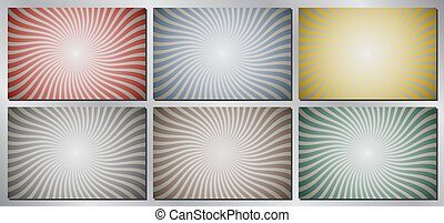 Retro, vintage vector background - sunburst