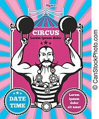 Retro vintage vector circus poster