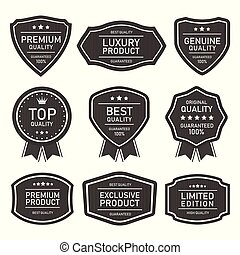 Retro vintage vector seal labels