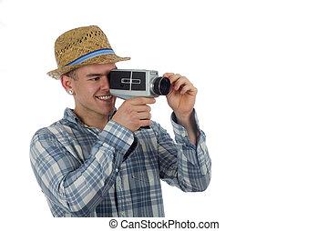 Retro vintage video camera