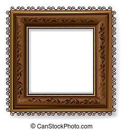 Retro vintage wooden frame