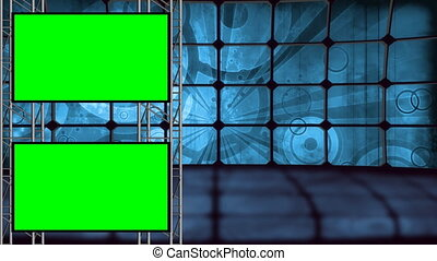 Retro Virtual Set With Green Screen