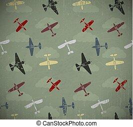 retro, vliegtuigen