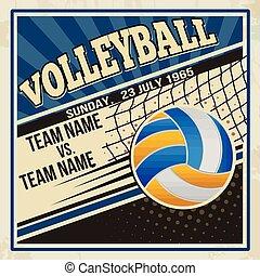 Retro voleyball poster design