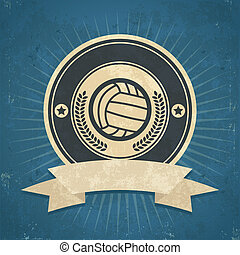 Retro Volleyball Emblem