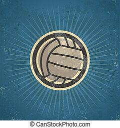 Retro Volleyball Illustration