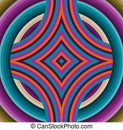 Retro Wallpaper Abstract Seamless Pattern