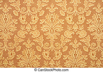 Retro Wallpaper - Floral vintage wallpaper background. Old...