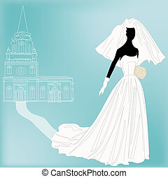 Retro Wedding Background