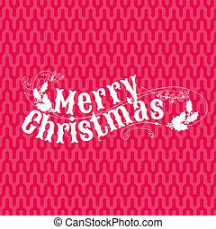 retro, weihnachtskarte, -, für, einladung, glückwunsch, in, vektor