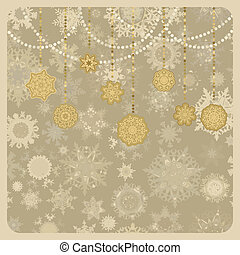 retro, wektor, boże narodzenie, (new, year), card., eps, 8