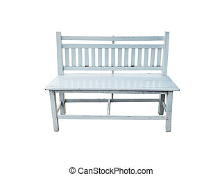 Retro white bench isolated