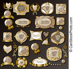 Retro white gold label/can be used for invitation,...