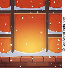 Retro Window in Snow