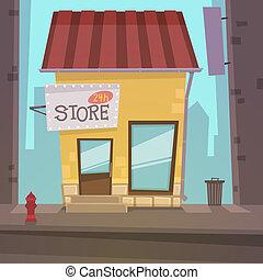 retro, winkel