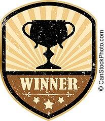 Retro winner emblem