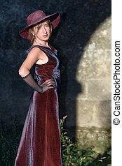 retro woman posing 2