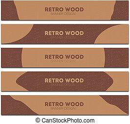 retro wood banner