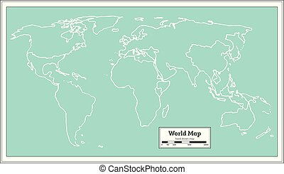 Retro world map brown color retro nautical world map with retro world map gumiabroncs Images