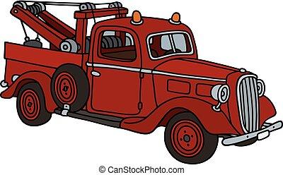 Retro wrecking truck