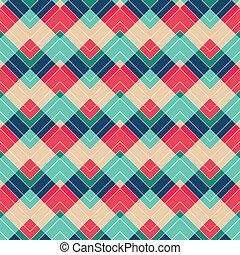 retro, ziguezague, seamless, padrão