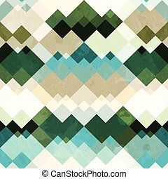 retro zigzag seamless pattern with grunge effect