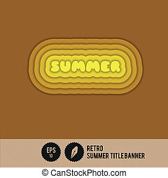 retro, zomer, titelbanner