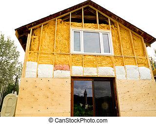 retrofit, viejo, casa, con, energía, ahorro, aislar