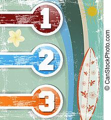retroset of colorful stickers