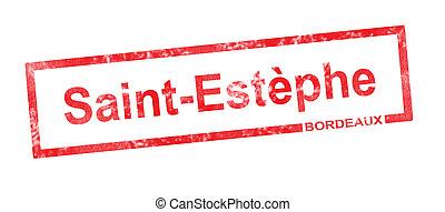rettangolare, appellation, santo, estephe, vigneto,...