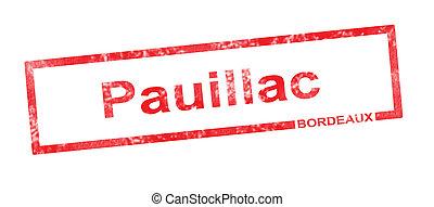 rettangolare, appellation, vigneto, bordeaux, francobollo,...