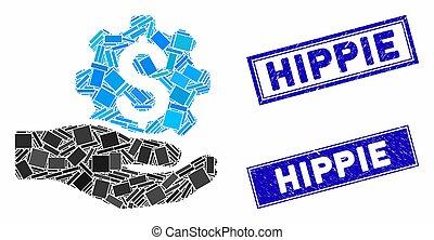 rettangolo, servizio, graffiato, ingegneria, prezzo, hippie, filigrane, mosaico