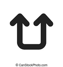 Return arrow symbol icon vector