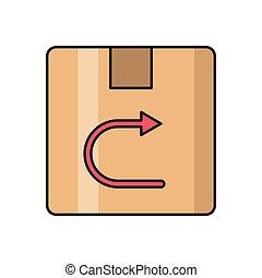 return  flat color icon