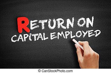 Return On Capital Employed text on blackboard