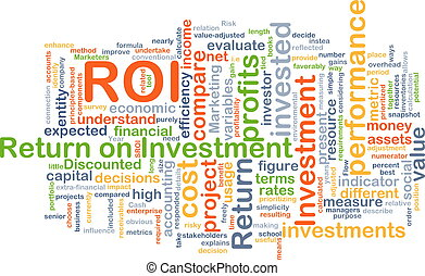 Return on investment ROI background concept
