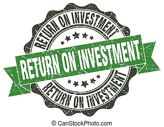 return on investment stamp. sign. seal