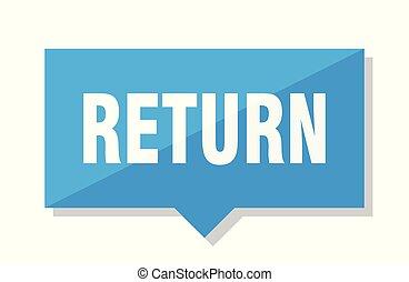 return price tag - return blue square price tag