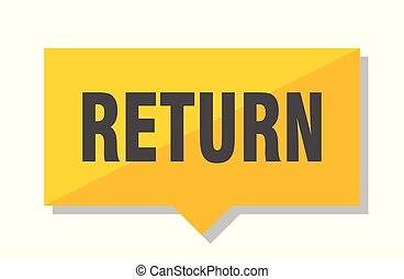 return price tag - return yellow square price tag