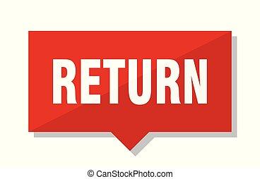 return red tag - return red square price tag