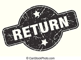 return round grunge isolated stamp