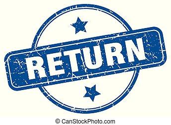 return round grunge isolated stamp
