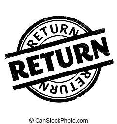 Return rubber stamp. Grunge design with dust scratches. ...