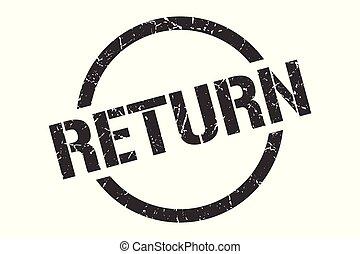return stamp - return black round stamp