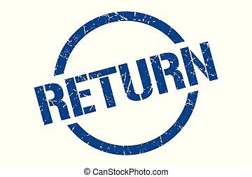 return stamp - return blue round stamp