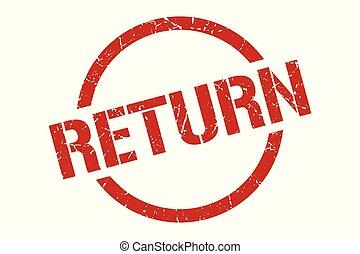 return stamp - return red round stamp