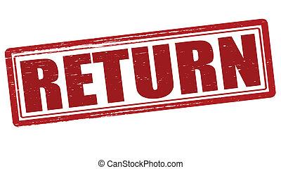 Return - Stamp with word return inside, vector illustration