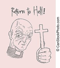 return to hell message illustration