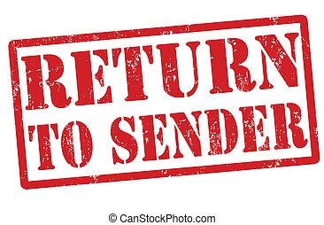 Return to sender red grunge rubber stamp over a white background, vector illustration